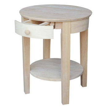 """International Concepts Philips End Table, 21"""" W x 21"""" D x 22"""" H, Unfinished"""
