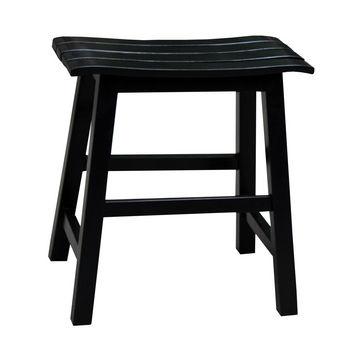 """International Concepts 18'' Slat Seat Stool, RTA, 17-1/2"""" W x 13-2/5"""" D x 18-2/5"""" H, Black"""