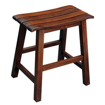 """International Concepts 18'' Slat Seat Stool, RTA, 17-1/2"""" W x 13-2/5"""" D x 18-2/5"""" H, Espresso"""