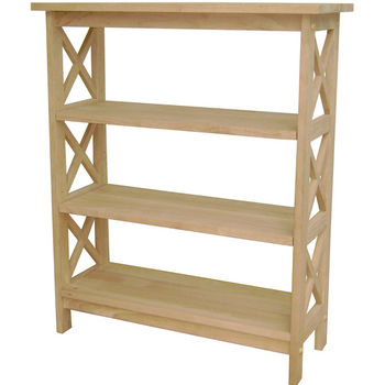 International Concepts X-Sided 3 Tier Bookcase