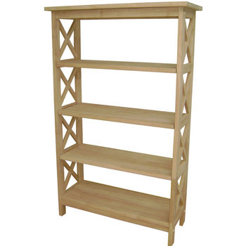 International Concepts X-Sided 4 Tier Bookcase