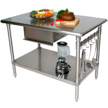 Kitchen Carts, Kitchen Islands, Work Tables and Butcher Blocks with ...