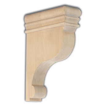 "Woodworx Shaped Bar Bracket, 2-1/2""W x 7""D x 10""H"