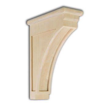 "Woodworx Mission Corbel, 3-1/2""W x 9""D x 12""H"