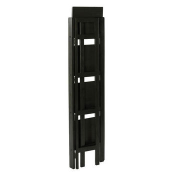 Winsome Wood Folding 4-Tier Shelf, Black Finish