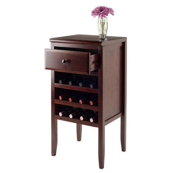 Buffet w/ Drawer, 12-Bottle Wine Rack - Open View