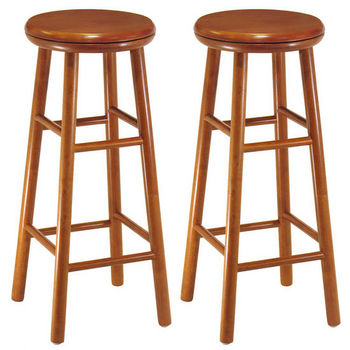 "Winsome Wood 30"" Swivel Seat Bar Stool in Heritage Cherry Finish"