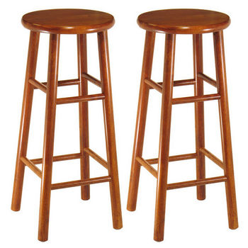 "Winsome Wood 30"" Bar Stool with Bevel Seat in Heritage Cherry Finish"