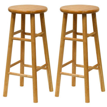"Winsome Wood 30"" Bar Stool in Solid Beechwood"