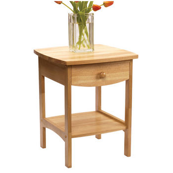 Curved Night Stand Beechwood Finish