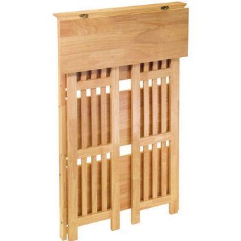 Winsome Wood Beechwood 4-Tier Storage Shelf Natural Finish