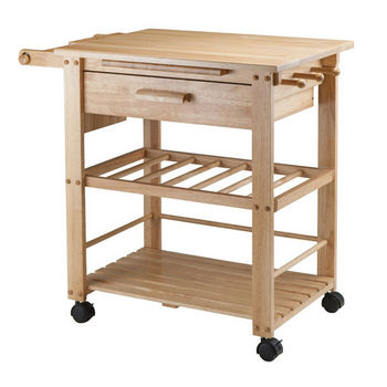 Winsome Wood Finland Kitchen Cart in Natural, 35''W x 20-1/2''D x 31-1/2''H