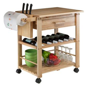35\'\'W Finland Kitchen Cart by Winsome Wood | KitchenSource.com