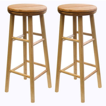 """Winsome Wood 30"""" Swivel Seat Bar Stool in Natural Finish"""