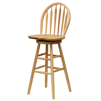 "Winsome Wood 30"" Windsor Swivel Bar Stool with Arrow Back in Natural Finish"