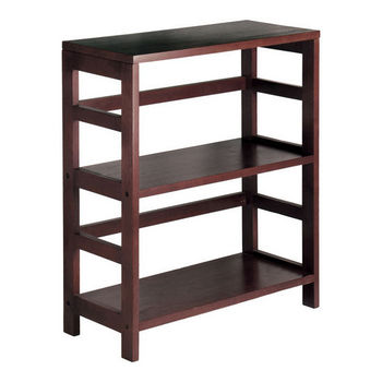 Winsome Wood 2-Section Wide Storage Shelf