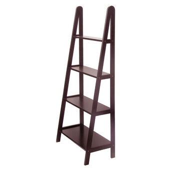 Winsome Wood A-Frame 4-Tier Storage Shelf Espresso Finish
