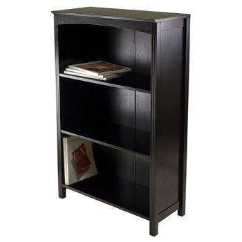 Winsome Wood WS-92429, Terrace Storage Shelf 4-Tier In Espresso Finish, Espresso, 25.98'' W x 11.81'' D x 42.99'' H