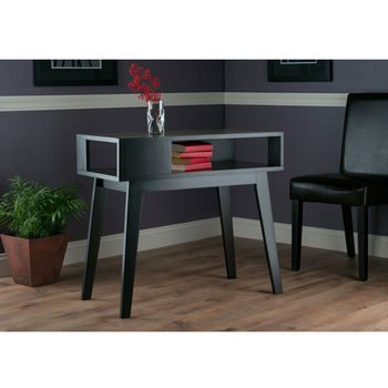 """Winsome Wood Thompson Collection Console Table in Espresso, 34-1/32"""" W x 16-1/16"""" D x 29-11/16"""" H"""