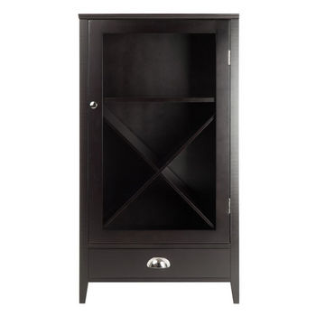 Winsome Wood Bordeaux Wine Cabinet X Panel