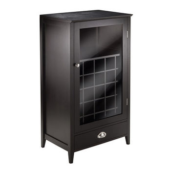 Winsome Wood Bordeaux Wine Cabinet 25-Bottle