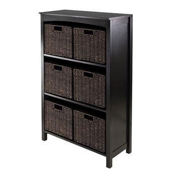 Winsome Wood 7pc Storage 4-Tier Shelf