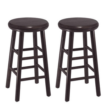 "Winsome Wood 24"" Swivel Bar Stool, Set of 2"