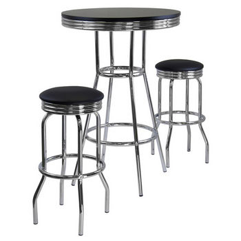 Winsome Wood Summit 3-Pc. Pub Table Set, Includes Table & 2 Swivel Stools
