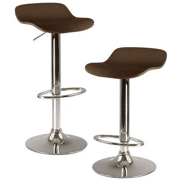 Winsome Wood Kallie Air Lift Adjustable Stool, Cappuccino Wood