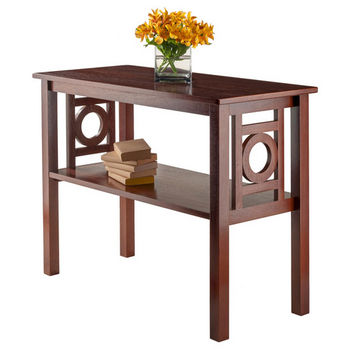 Phenomenal Ollie Console Table With Art Deco Design And Shelf In Walnut Caraccident5 Cool Chair Designs And Ideas Caraccident5Info