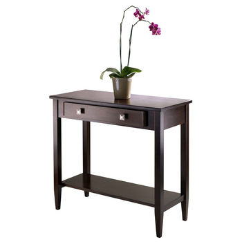 Winsome Wood WS-94136, Richmond Console Hall Table Tapered Leg, Antique Walnut, 33.98'' W x 15.69'' D x 29.92'' H