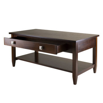 Winsome Wood WS-94140, Richmond Coffee Table Tapered Leg, Antique Walnut, 40'' W x 20.53'' D x 18.11'' H