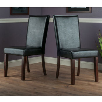 """Winsome Wood Johnson Collection 2-Piece Chair Set in Espresso / Walnut, 18-1/8"""" W x 22-1/16"""" D x 38-19/32"""" H"""