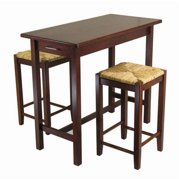 Kitchen Island Set w/ Rush Stools
