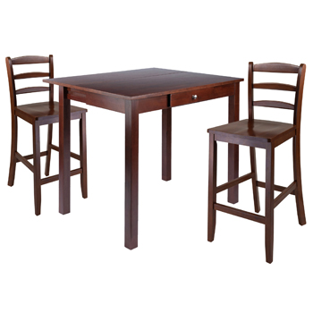 Winsome Wood Accent TableTable and Ladder Back Chairs 1