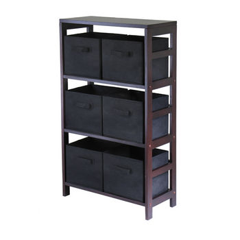 Winsome Wood Capri 3-Section Storage Shelf