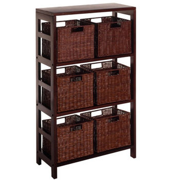 Winsome Wood Leo 7Pc Shelf and Baskets