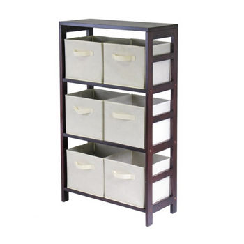 Winsome Wood Capri 3-Section M Storage Shelf