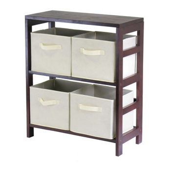 Winsome Wood Capri 2-Section M Storage Shelf