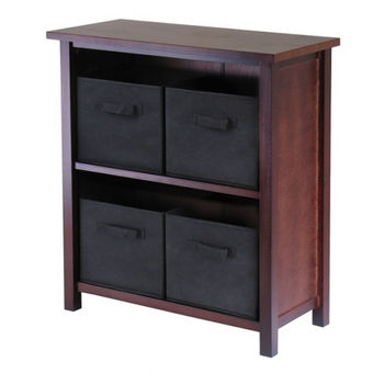 Winsome Wood Verona 2-Section M Storage Shelf