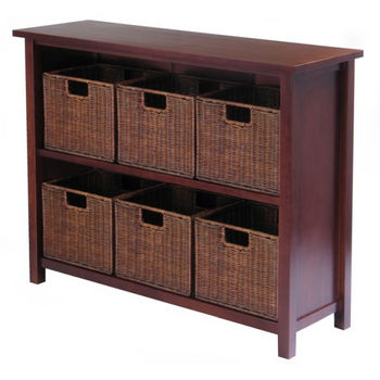 Winsome Wood Milan 7Pc Storage Shelf
