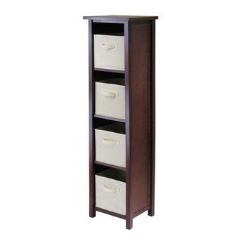 Winsome Wood Verona 4-Section N Storage Shelf