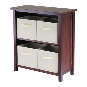 Winsome Wood Verona 2-Section M Storage Shelf