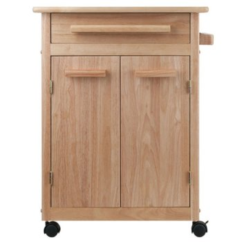 Winsome Wood Kitchen Cart with Wheels, Direct Cart View