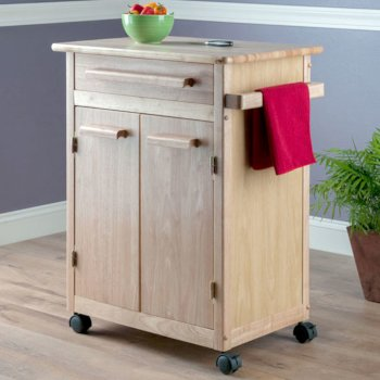Winsome Wood Kitchen Cart with Wheels