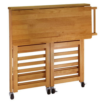 Winsome Woods Collapsible Kitchen Cart