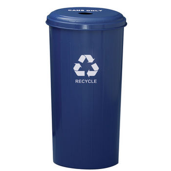 Witt Industries 36GC04 SL GeoCube Recycling Receptacle with Combination