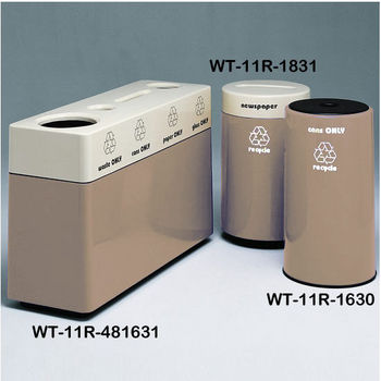 Alabaster Fiberglass Recycling Containers