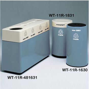 Blue Fiberglass Recycling Containers