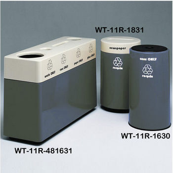 Charcoal Fiberglass Recycling Containers